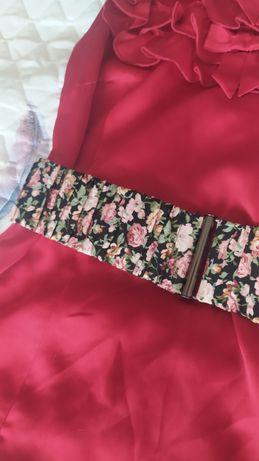 Kwiecisty pasek, Reserved rozm. M, ok.78 cm bez rozciągania, w kwiaty
