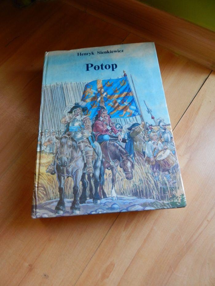 Potop Henryk Sienkiewicz - duża książka - 1992 rok wydania
