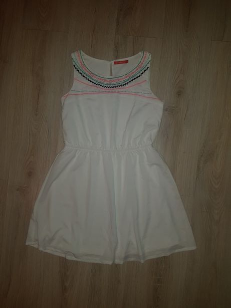 Сарафан платье М белое