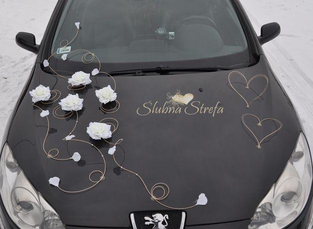 Dekoracja na samochód, dekoracja samochodu ślubnego - motylek