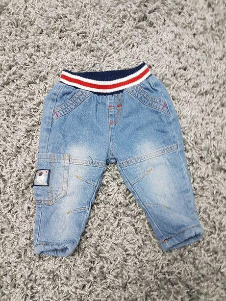 Jeansy z ciepłą podszewką