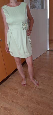 Wizytowa sukienka r.38 pastelowa zieleń