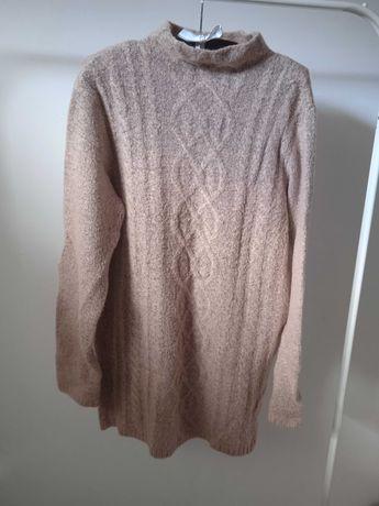 Sweter długi ciepły threadbare L