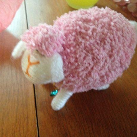 розовый барашек(Овен) ручной работы