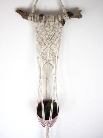 Makrama na kwiaty / Mały kwietnik wiszący / Boho dekoracje / kaktusy