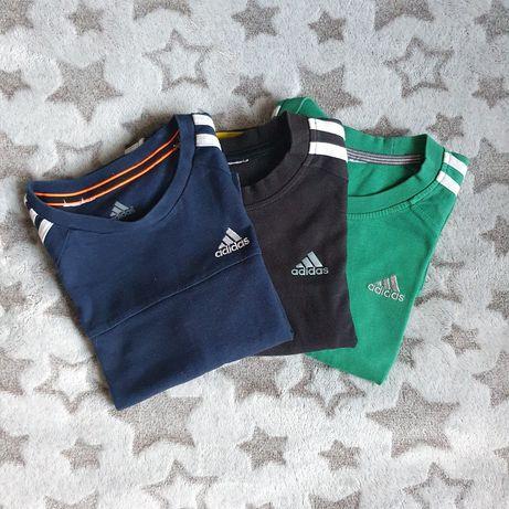 T-shirty Adidas roz.116 3 sztuki!