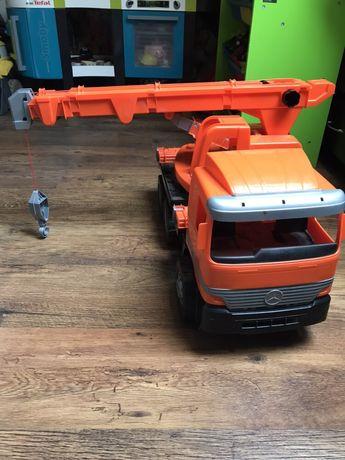 Dźwig , auto, hak, wysięgnik, ciężarówka