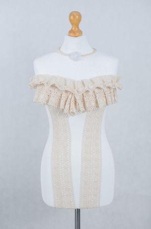 Manekin krawiecki ozdobny koronka bawełniana – Vintage rękodzieło