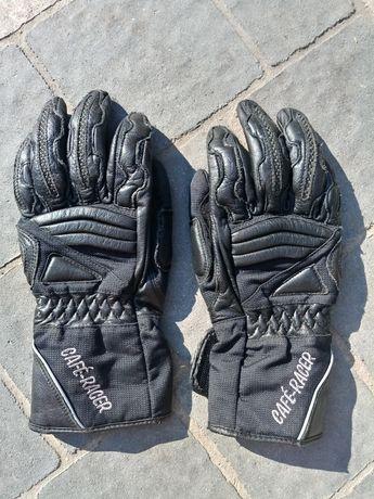 Skórzane rękawice motocyklowe CAFE-RACER