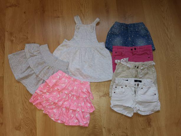Zestaw ciuszków dla dziewczynki krótkie spodenki spódniczki 98-104 h&m