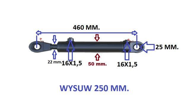 polski cylinder/tłok/siłownik BIZON motowidły. Skok 250 mm.