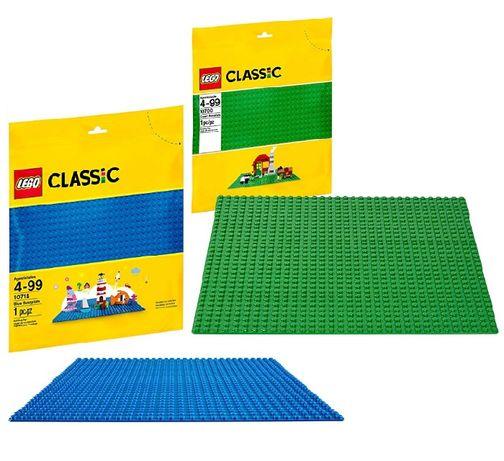 LEGO Classic 10714 Blue 10700 Green Baseplate Лего Базова плита плитка
