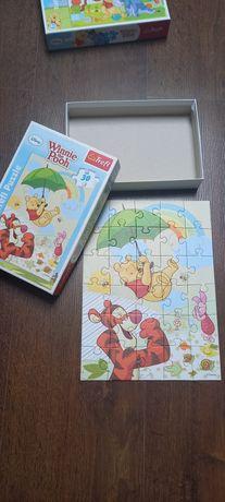 Puzzle Trefl Kubuś Puchatek 2 szt