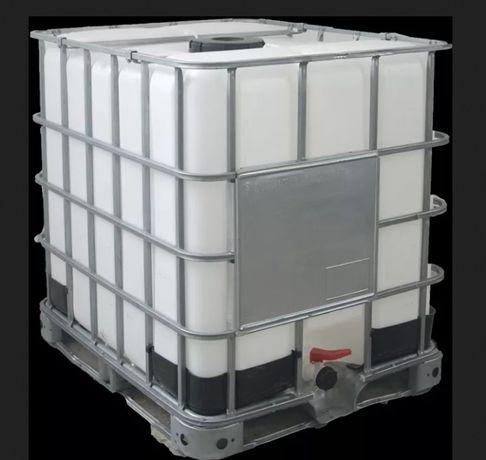 Kontener-paletopojemnik, używany 1000 l, na palecie
