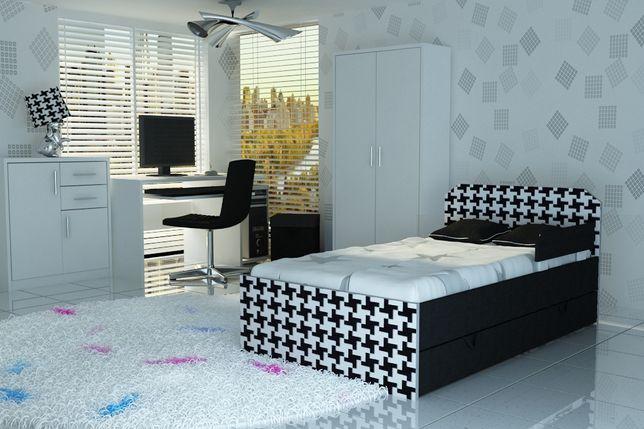 Łóżeczko z szufladą i atetowanym materacem,łóżko dla dziecka tapicerka