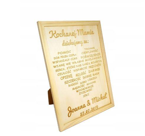 Ramka drewniana Podziękowania ślubne dla rodziców mamy świadków