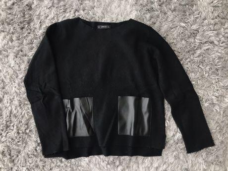 Camisola Zara com bolsos em pele