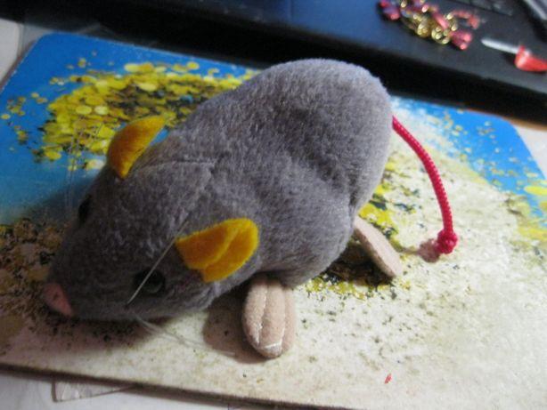 мягкая игрушка плюшевая детская крыса серая мышь мышка 18см клевая!