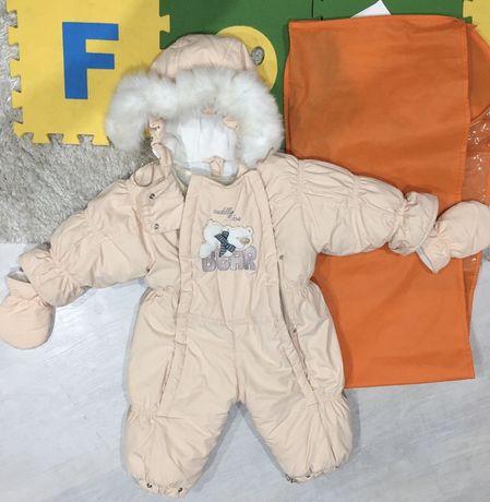Летняя трикотажная футболка Lupilu 86/92 комбинезон зима 74/80 зимний