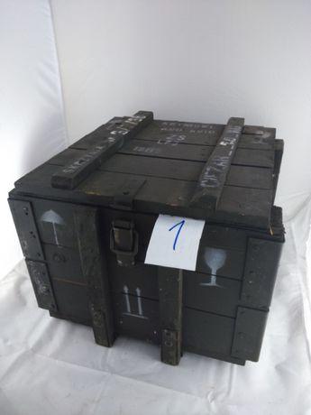 Skrzynia wojskowa wys.37 cm 47cmx45cm siedzisko