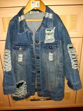 Джинсовый пиджак стильный для девочки