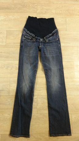 Плотные синие классные штаны брюки джинсы для беременных р 27 28 44 M