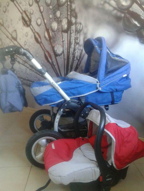 Polski wózek Baby Design 3w1 + nowa torba