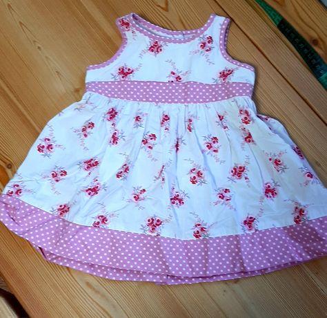 Платье нарядное в цветочек 1-2годаРост80-86см