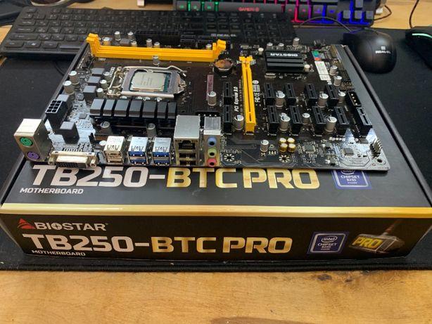 Продам Материнскую плату Biostar TB250 btc pro Комплект!