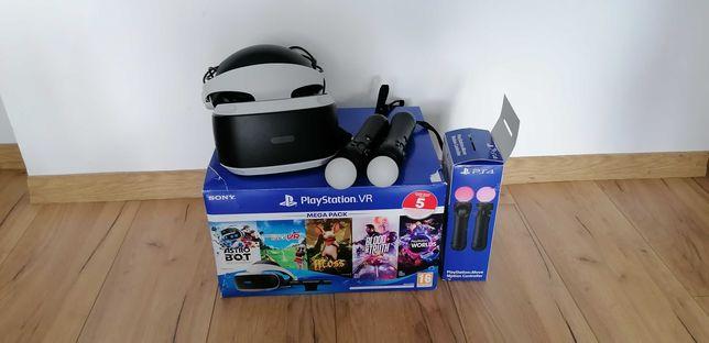 Okulary VR do Ps4, Mega Pack 3 + camera + 5 Gier