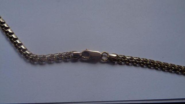 Złoty łańcuch męski piękny i unikalny