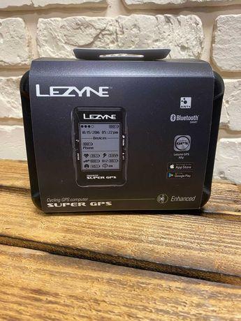 Велокомп Lezyne SUPER GPS HRSC LOADED с датчиками пульса/каденса