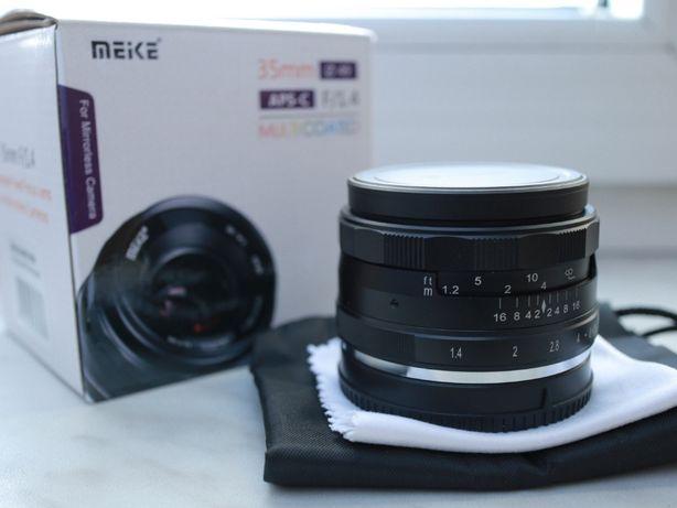 Obiektyw Meike 35mm f/1.4 Canon EF-M