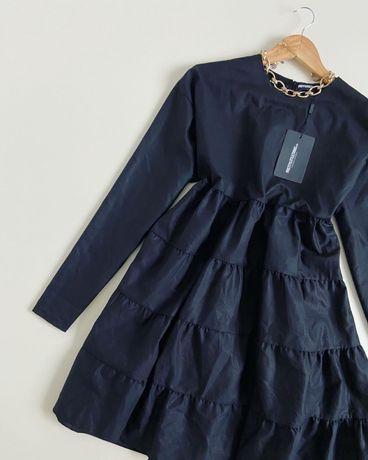 Новое платье рюшами prettylittlething