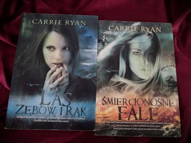 """Carrie Ryan """"Las zębów i rąk"""", """"Śmiercionośne fale"""""""
