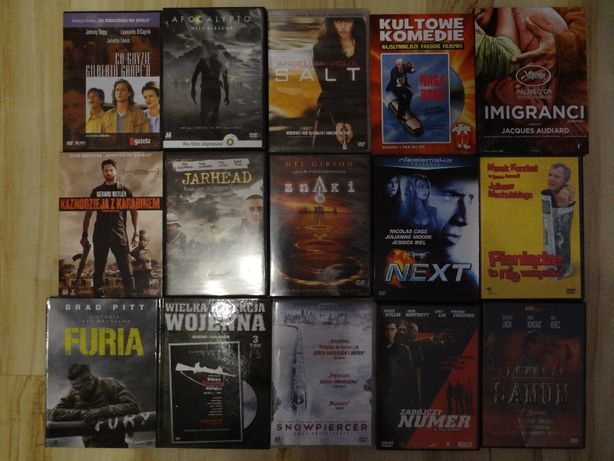 Filmy DVD o różnej tematyce