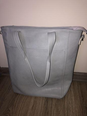 Laura Biaggi duża torebka szara shopper