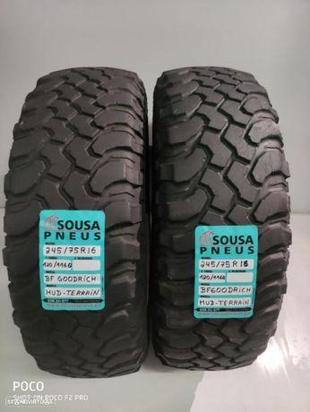 2 pneus semi novos BF Goodrich 245-75-16 Oferta dos Portes