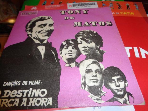 Disco Single Tony de Matos o destino marca a hora usado
