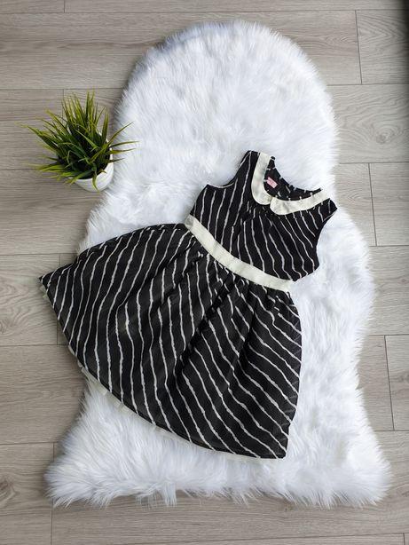 Śliczna sukienka czarno-biała rozmiar 4