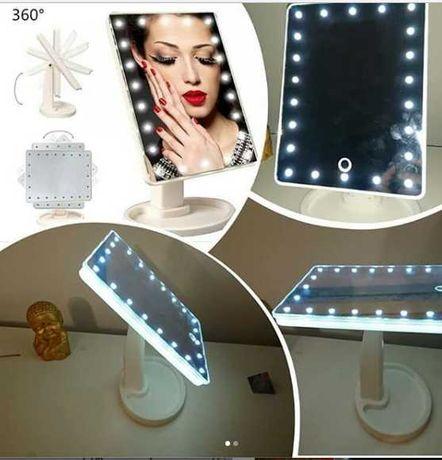 Настольное зеркало с лэд подсветкой для удобства