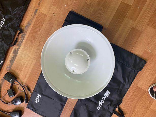 Рефлектор (тарелка)портретный с рассеивателем