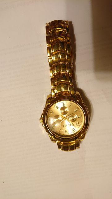 Złoty zegarek Kurren elegancki stan idealny
