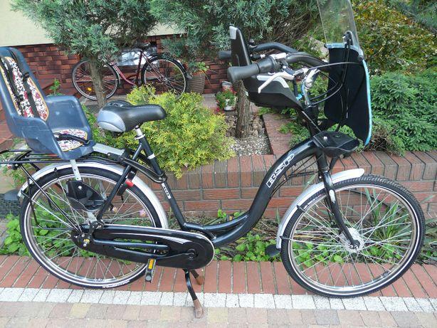 """Rower BSP 26"""" - idealny do przewozu 2 dzieci, stan b. dobry"""