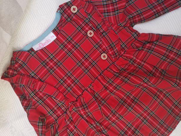 Bluzka tunika świąteczna 74cm