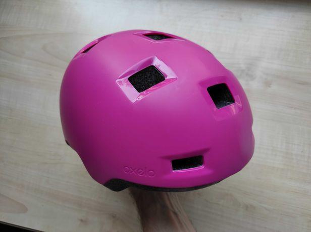 Шлем защитный котелок Oxelo B 100 Pink, размер 52-54см, детский