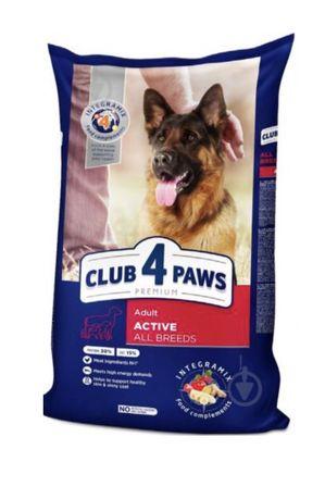 Корм Клуб 4 лапы для собак Актив 14кг