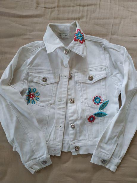Костюм белый джинсовый джинсы белые куртка джинсовая белая