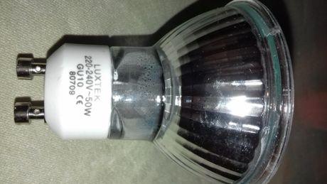 Lâmpadas halogénio GU10 marca Luxtek usadas