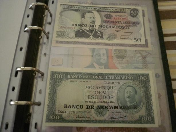 4 Notas de MOÇAMBIQUE do BANCO Nacional ULTRAMARINO com Recarga